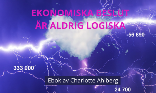 Ekonomiska beslut ar aldrig logiska - Charlotte Ahlberg